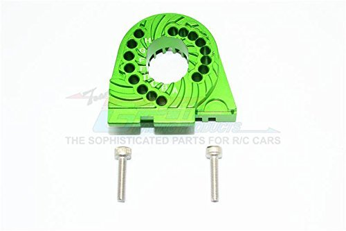 Traxxas TRX-4 Trail Defender Crawler Tuning Teile Aluminium Double Sided Motor Mount Plate With Heat Sink Fins - 1Pc Set Green