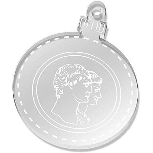 Azeeda 2 x 52mm 'Römische Münze' Klare Weihnachtsdekoration (CB00048971) (Display-münzen-satz)
