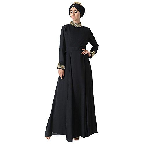 Accent Jewel Pleated Eid Abaya Dress + Hijab