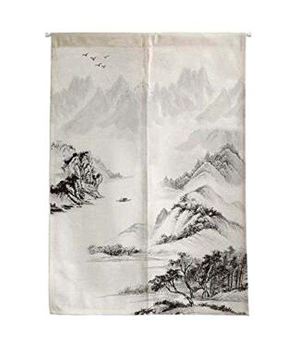 Black Temptation [Montaña] Cortina Japonesa de la Entrada de la Cortina de Noren Cortina Puerta Cortina Decoración de la Pared