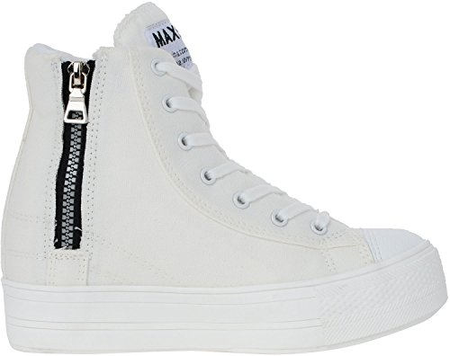 Maxstar  C2-7H, Chaussons montants femme Blanc - C2-White