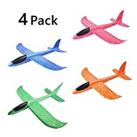 ypypiaol 4 Pcs Manual Throwing Glider Planes Airplane Flying Planes Glider Throwing Foam Airplane Mode Durable Aircraft for Kids Outdoor Sport Toys 4pcs