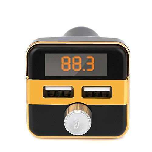 DOGZI Bluetooth FM Transmitter& USB Auto-Ladegerät Drahtlose Kfz-Einbausatz - Bluetooth FM LCD Sender Wireless MP3 TF Radio Adapter USB Ladegerät Car Kit -