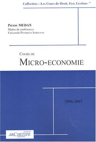 Cours de micro-conomie