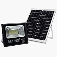 Sister-A 300W Solar Light Motion Sensor LED Flood Lights Outdoor Security Light with Remote IP67 Waterproof for Garden, Yard Lawn Street Large Size White Color