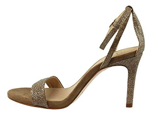 Unisa | WAX | Riemchen Sandalette - braun | gold Grau