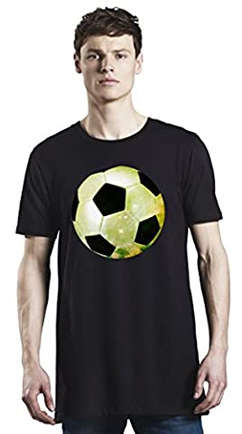 Galaxy Football Long T-Shirt For Men| Custom -Printed Tee| 100% Superior Organic Combed Cotton| Premium Quality DTG Printing| Unique Clothing For Men By Bang Bangin X-Large