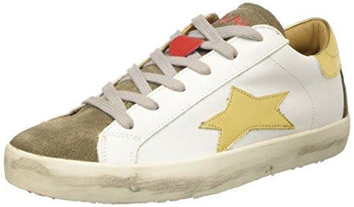 ISHIKAWA Low, Sneakers basses mixte adulte Bianco