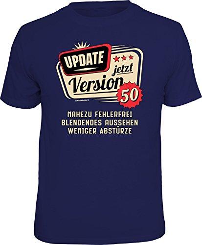 RAHMENLOS Original T-Shirt zum 50. Geburtstag: Update, jetzt Version 50 L, Nr.6224