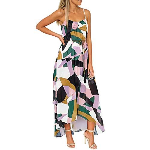 LeeMon - Vestido de Noche para Mujer con Estampado de Leopardo de los años 50, sin Mangas, Vestido de Noche, Vestido de Fiesta, Largo hasta la Rodilla S