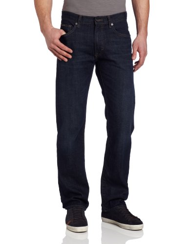 Calvin Klein Jeans Men's Straight Leg Classic Fit Jean in Dark Wash, Dark Wash, 32x32  available at amazon for Rs.3499