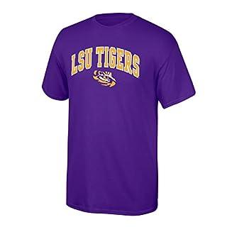 Elite Fan Shop NCAA LSU Tigers Mens NCAA T Shirt Team Color ArchNCAA T Shirt Team Color Arch, Purple, Large
