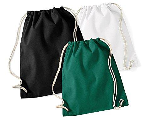 3 x Tasche EQT-FASHION Damen Herren Rucksack schwarz weiß grün Festival Open Air Reise Beutel Camping (Kit Für Herren Hippie)