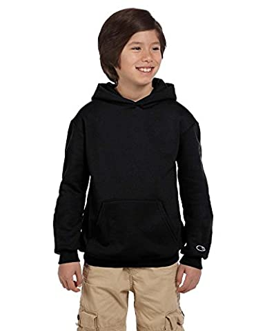 Champion Double Dry Youth Action Fleece Pullover Hood, S790-V, L,