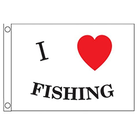 Taylor Made Products 3718 I Love Fishing Boat Flag (12