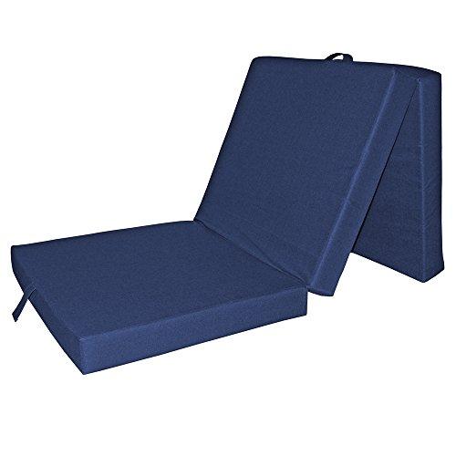 VitaliSpa® Faltmatratze Klappmatratze Gästebett Liege Bett Matratze Reisebett 70x190x10 (blau)