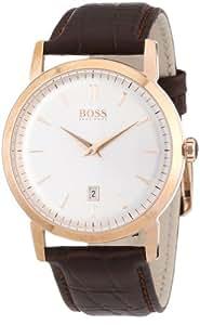 Hugo Boss - 1512634 - Montre Homme - Quartz Analogique - Cadran - Bracelet Cuir Marron