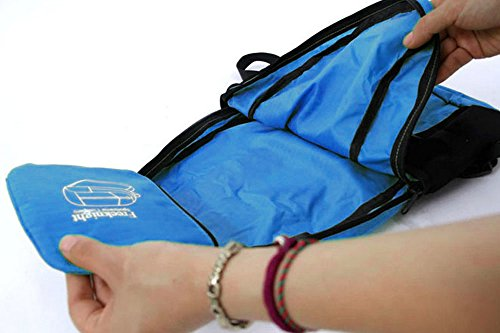 FakeFace Faltbarer Reiserucksack Liebespaar Rucksack Damen Herren Tasche Ranzen für Camping Wandern Bergsteigen Trekking Radfahren Reisen Sport Urlaub Outdoor Aktivitäten Blau