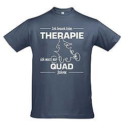 T-Shirt - Therapie - Quad - Sport FUN KULT SHIRTS S-XXL , Denim - weiß , XL