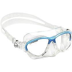 Cressi Moon Masque Plongée et Snorkeling Enfant - 7-15 ans Transparent/Bleu