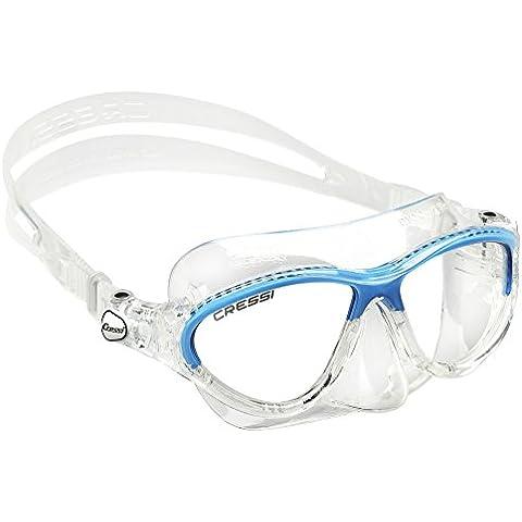 Cressi Moon Kid - Gafas de snorkel buceo para niño y niña de 3 a 8 años, color transparente /