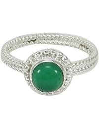 a4fab85b6bbe Joyería india Verde Ronda Onyx Gemstone 925 Anillo de la manera de plata  esterlina