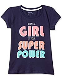 Max Girl's Plain Regular fit T-Shirt (M20CBT16INK_Ink 3-4Y)