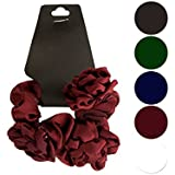 Bulk Buys Chiffon Hair Twister With Ruffle Flower Accents - Pack Of 24