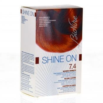 bionike shine on 74 blond cuivr 1 tube coloration 50ml 1 flacon rvlateur 75ml - Coloration Blond Cuivr