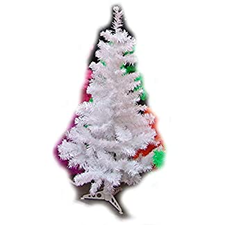 EN-Christbaum-Weihnachtsbaum-wei-H-180cm-PVC-incl-Metallstnder