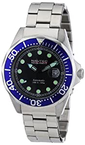 Nautec No Limit Herren-Armbanduhr Deep Sea Bravo Analog Automatik Edelstahl DSB AT/STSTBLBK