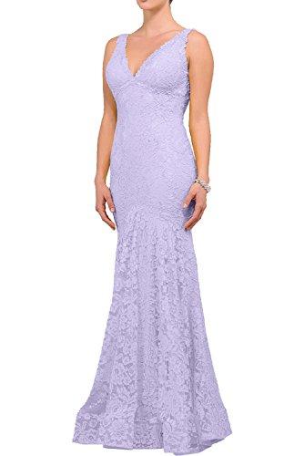 Charmant Damen Langes Kleider Aus Spitze Abendkleider Festliche Kleider Cocktailkleider Elegant Etuikleider Lilac