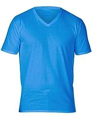 Gildan - T-shirt à manches courtes et col en V - Homme
