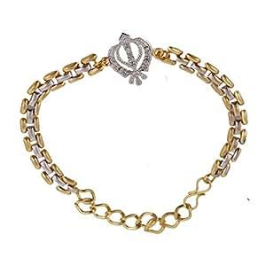 Be You Real Diamond Look Khanda Rakhi Bracelet for Bhaiyaa