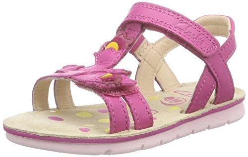 Clarks MimoGracie Inf, Mädchen Knöchelriemchen Sandalen, Pink (Pink Leather), 28 EU (10 Kinder UK)