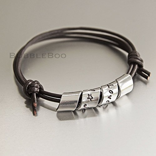 secret-message-bracelet-spiralled-aluminium-personalised-motif-on-adjustable-knotted-leather-cord