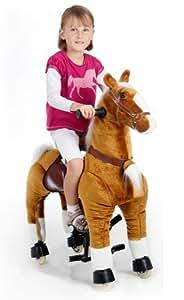 Spielzeug-Pferd Galoppo® zum Reiten für Kinder in braun