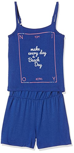 TOM TAILOR Kids Mädchen Hose Jumpsuit with Print At Front, Blau (Deep Ultramarine Blue 6726), 140