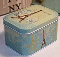 Petite boîte de rangement rétro Boîtes à thé Vintage Boîtes à thé Boîtes à thé Boite cadeau (Tour Eiffel)
