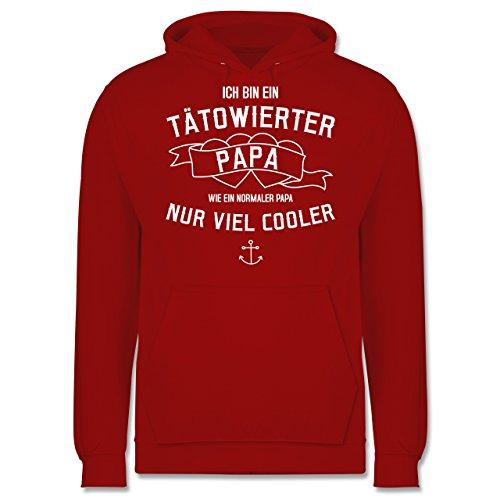 Vatertag - Ich bin ein tätowierter Papa - Männer Premium Kapuzenpullover / Hoodie Rot