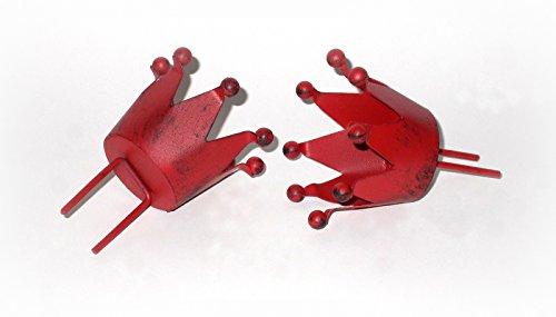 Stecker 'Krone' aus Metall rot