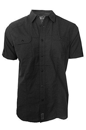 dissident-sigma-hommes-manche-courte-chemise-boutonniere-noir-s-torse-97cm