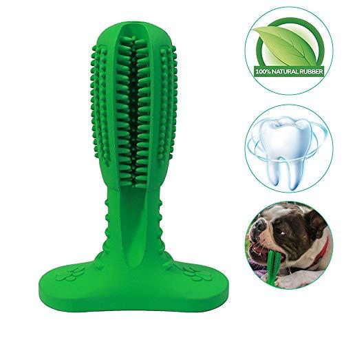 SZRWD Hundezahnbürste Stick, Dog Toothbrush Stick, Pet Zahnbürste Brushing Stick Zahnpflege Hunde Spielzeug, Geschenke für Hunde(M Grün)
