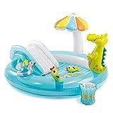 QHWJ Aufblasbare Spielzeuge, Aufblasbare Poolrutsche-Brunnen-Krokodil-Auflage-Pool-Familie der...