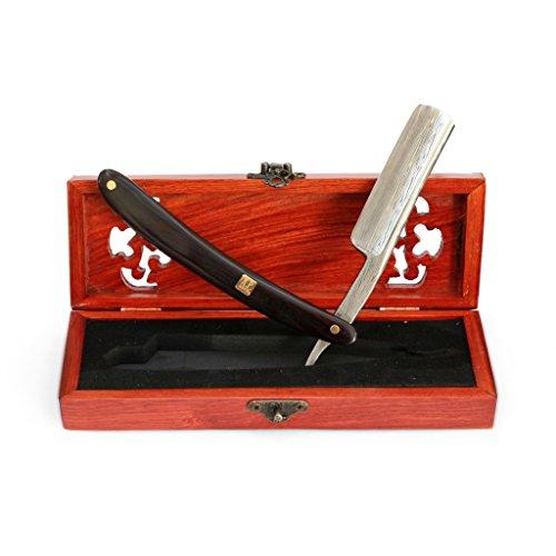 """Preisvergleich Produktbild A.P. Donovan - Luxus 7/8"""" Rasiermesser in einer Holzschatulle - Klinge mit Damast-Muster (gehärteter Stahl / nicht rostfrei) - Sandel Holzgriff"""