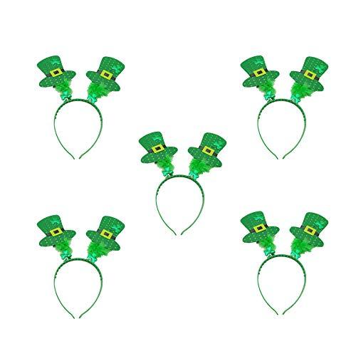 Fairy Baby 5 STÜCKE St. Paddy's Day Green Head Boppers Mini-Mütze Partyzubehör Irisch Size F (Grün)