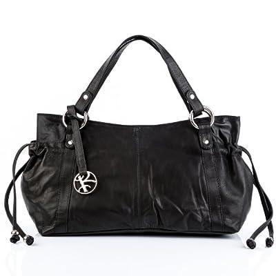 BACCINI Bolso Tipo Tote Bag Anna Bolso de Mano Bolso de Hombro Piel Negro de BACCINI