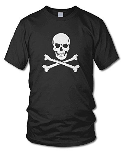 shirtloge - TOTENKOPF / PIRAT - Kult - Fun T-Shirt - in verschiedenen Farben - Größe S - XXL Schwarz