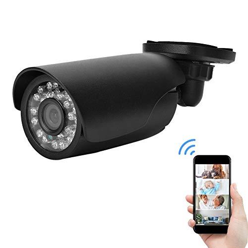 a Set Draussen/Innen IP66 Wasserdichte Überwachungskamera für zu Hause mit 24 LED für Nachtsicht Schwarz (PAL) ()