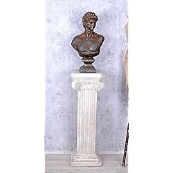 Garten Statue Adonis Büste Gartenfigur Antike Männerbüste wetterfest Palazzo Exclusiv